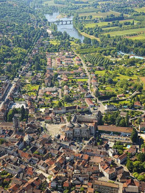 Souillac from above