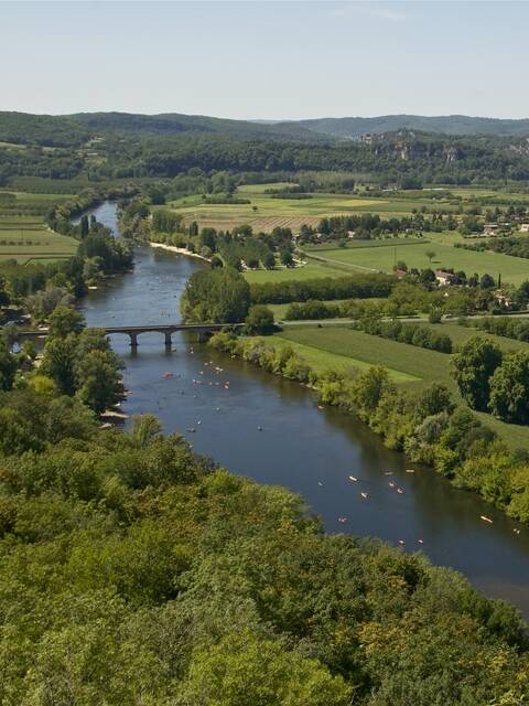 View of the Dordogne river from Domme