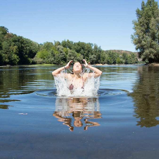 Swimming in the Dordogne