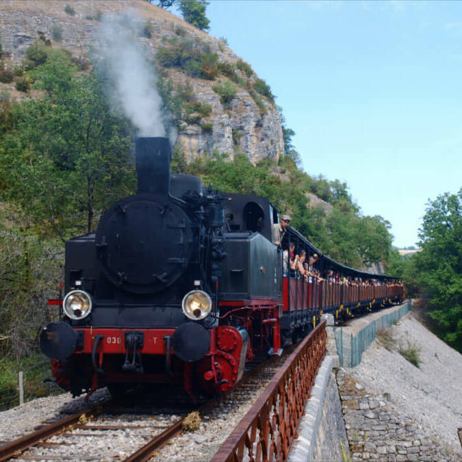 Truffadou steam train in Martel